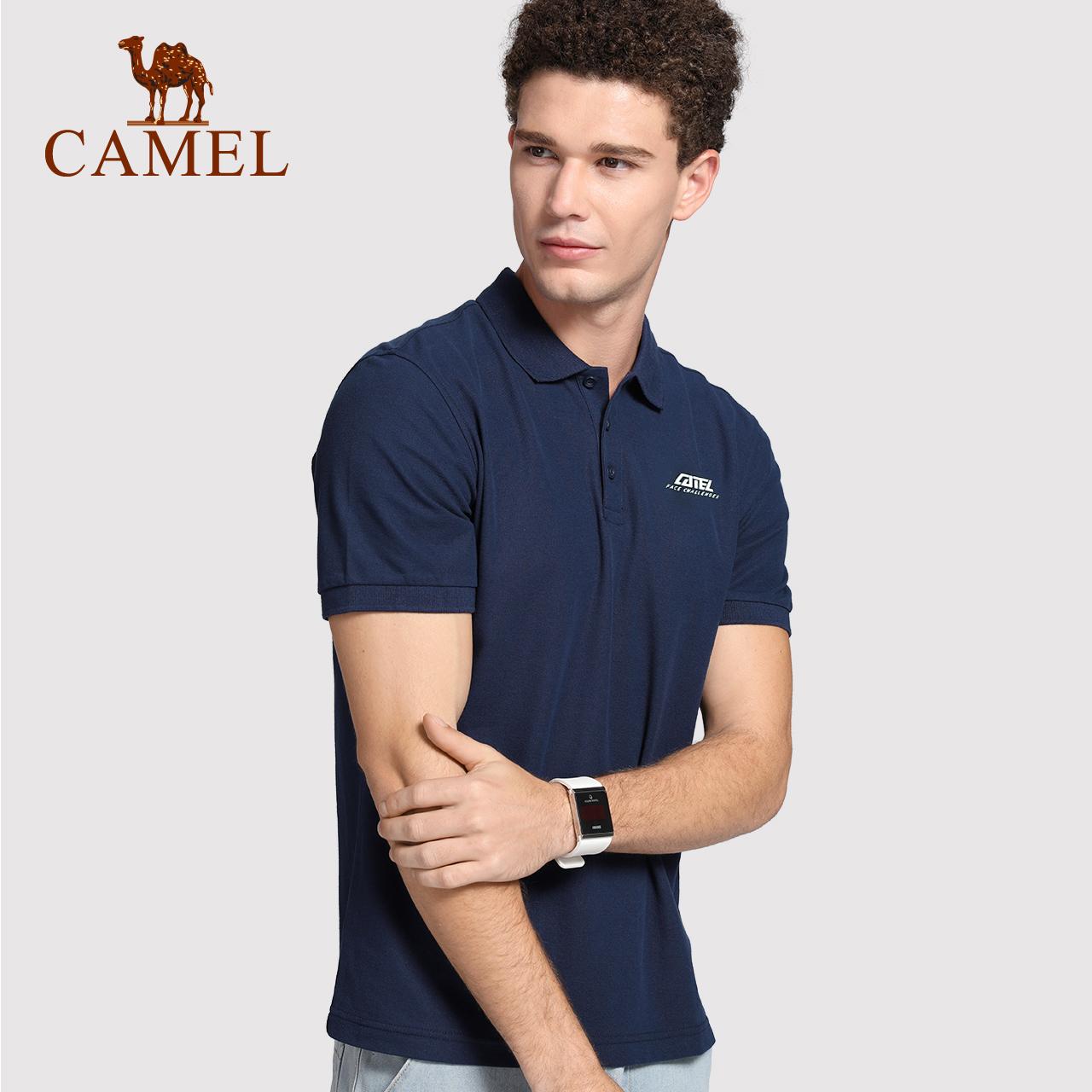 骆驼运动POLO衫男夏季运动服短袖T恤男士休闲体恤翻领上衣女士