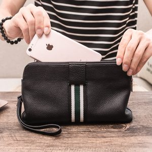 Clutches Men's Leather Tide Brand Clutches Men's Long Wallets Phone Bags Card Bags All-in-one Bags Casual Men's Bags Shoulder Bags