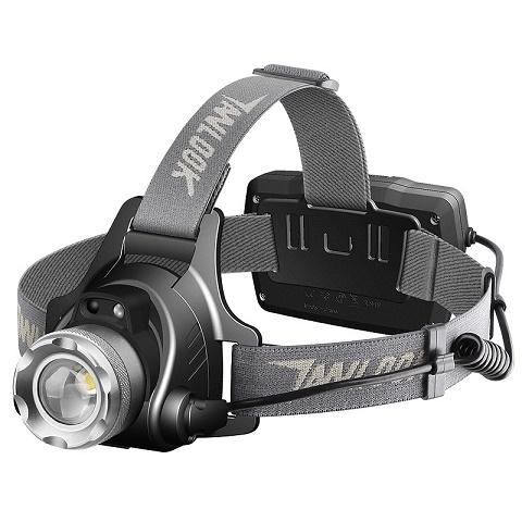 探露LED头灯强光充电感应远射3000头戴式手电筒超亮夜钓鱼灯矿灯