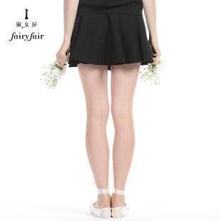 淑女屋春装新款百褶裙短裙小黑裙短款针织裙半裙百搭女装可爱