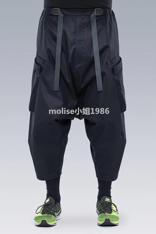 mini 德acronym p30 机能双飘带百变口袋防水工装机能裤