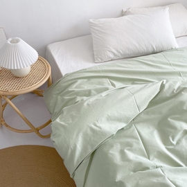 好好看!自制薄荷浅绿纯色单件全棉斜纹被套纯棉被罩被单 可定制