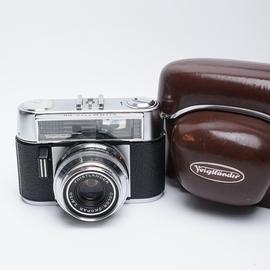 德国福伦达vitomatic IIB 135旁轴相机好成色带皮套稀有古董收藏