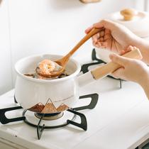 树可珐琅日式小火山奶锅家用单柄搪瓷锅宝宝辅食锅电磁炉通用汤锅