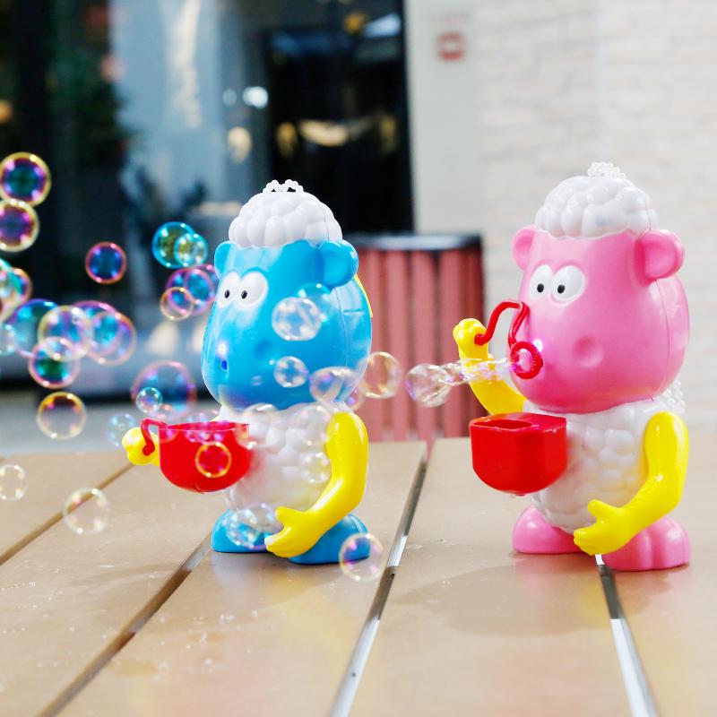 儿童泡泡枪电动全自动吹泡泡机玩具泡泡水安全无毒补充液小羊抖音