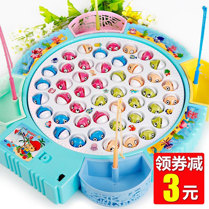 儿童钓鱼玩具池套装 男孩子女孩小孩宝宝1-2-3-5周岁半6早教益智4