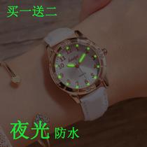 手錶女ins風學生原宿學院韓版簡約小清新可愛少女電子防水夜光錶