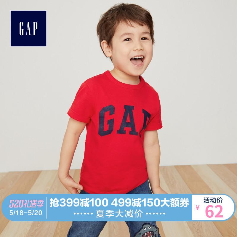 gap男婴幼童短袖t恤夏季437803 e 2019新款童装儿童纯棉圆领上衣