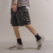 NOTHOMME日系潮zg8宽松抽绳rw五分裤男士夏季薄式休闲裤国潮