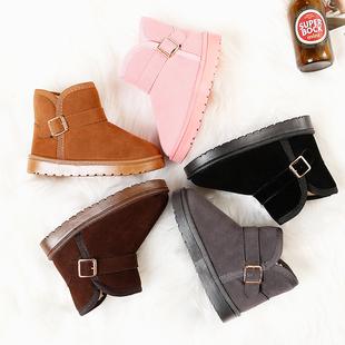 儿童雪地靴保暖棉鞋2018冬季新款加绒女童短靴男童宝宝防水靴鞋子