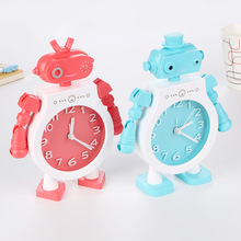 包邮创意机器的qd4钟宝宝学md礼物定制logo可爱床头懒的时针