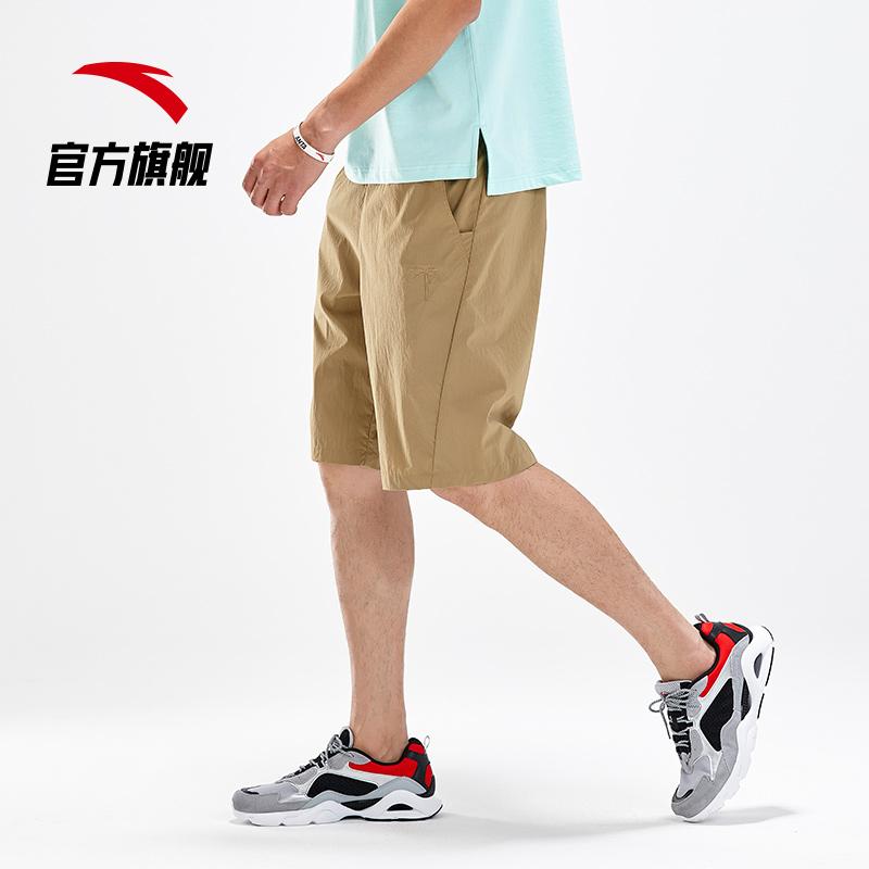 安踏短裤男运动裤 2020夏新款透气运动休闲短裤梭织五分裤 男生