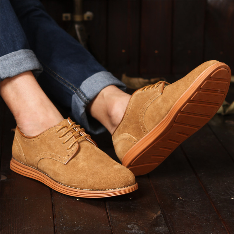 New Korean fashion shoes in 2020 summer invisible inner heightening men's shoes casual shoes suede leather small shoes