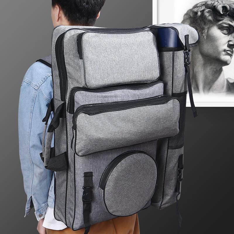 画袋美术生袋艺考画包专用背包少女学生用大容量画板包多功能收纳4k潮流便携用品双肩画架考试素描手提联考