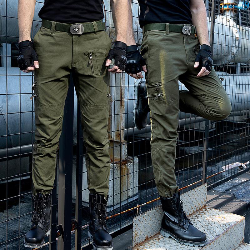 户外迷彩裤男工装裤宽松直筒美式军裤作战特种兵战术裤修身裤子