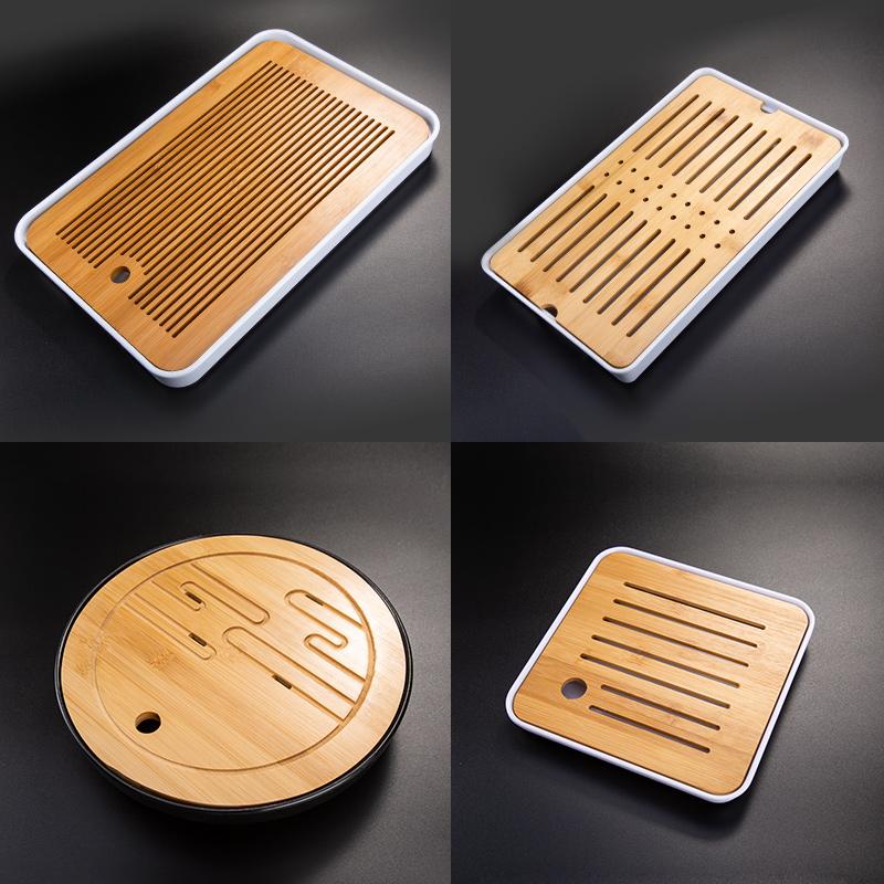 天喜茶盘家用功夫茶具托盘竹茶台茶托现代简约套装沥水盘小型茶海