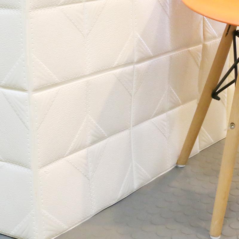 3D立体仿皮革防撞卧室床头墙贴纸泡沫墙砖电视背景墙软包墙纸自粘