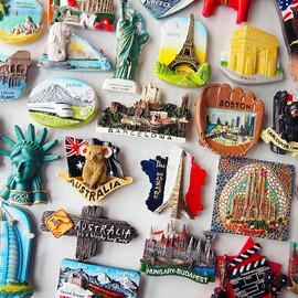 欧式3D立体世界各国建筑风景旅游纪念树脂磁性冰箱贴装饰品吸铁石