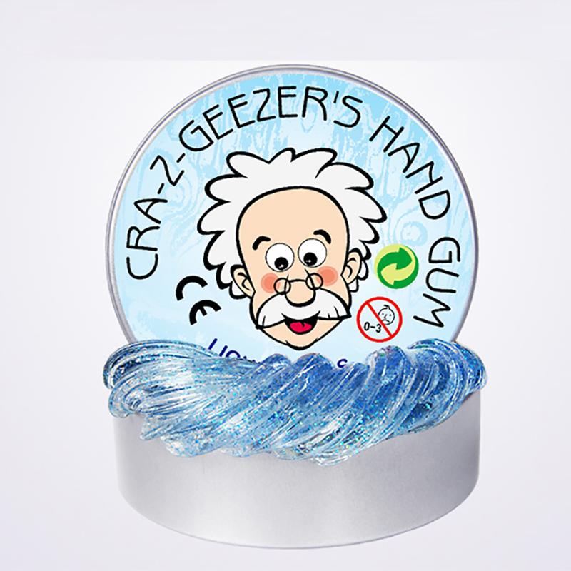 小老头液态玻璃泥星空彩泥粘土金葱透明水晶彩泥解压环保学生玩具