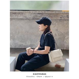 小优家包包 |菱格链条包单肩包斜挎包女包新款2019车缝线单肩包