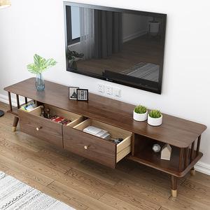 北欧轻奢实木客厅电视柜白蜡木配铜件现代简约收纳储物柜住宅家具