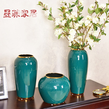 New Chinese American luxury Ceramic Vase ornament living room home decoration TV cabinet porch European flower arrangement