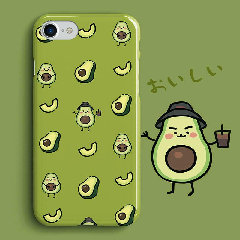 原创牛油果手绘苹果X手机壳硅胶套iPhoneXsMaxiphonex手机壳潮