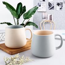 马克杯男生款大容量水杯瓷杯子可爱家用陶瓷杯一对情侣款杯子口杯