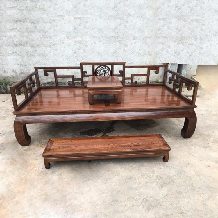 实木罗汉床简约新中式客厅三人沙发双人躺椅小户型禅意睡榻贵妃榆
