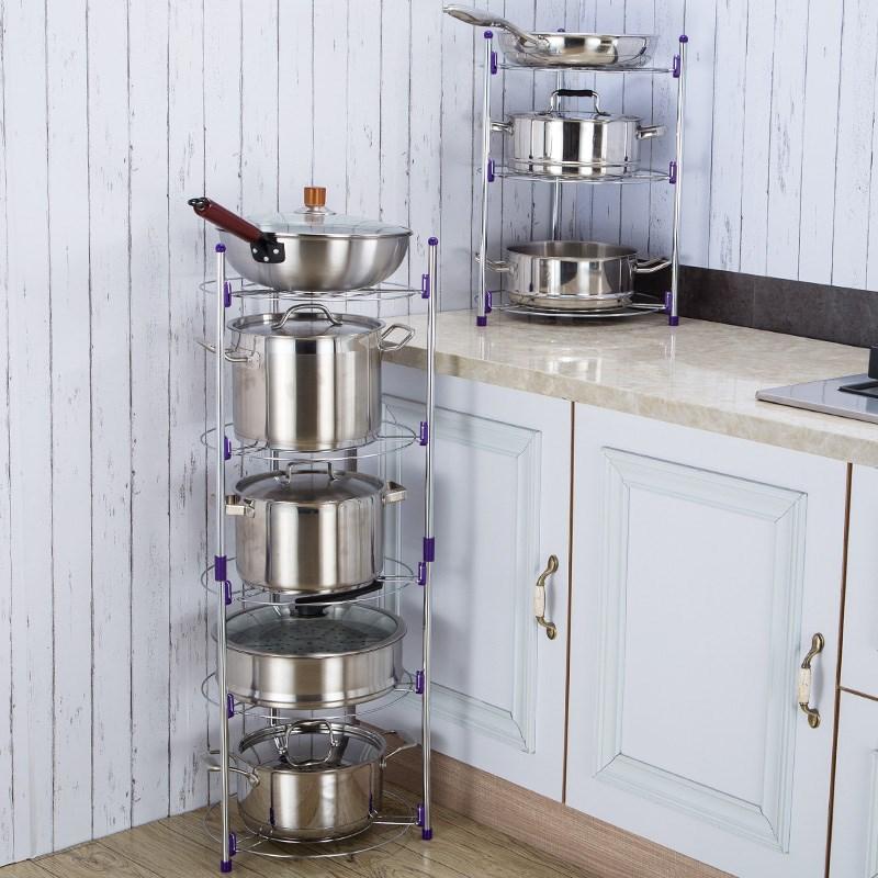 厨房用具大全 厨具 家用置物架多层桌面酒店用品餐饮用具锅架?