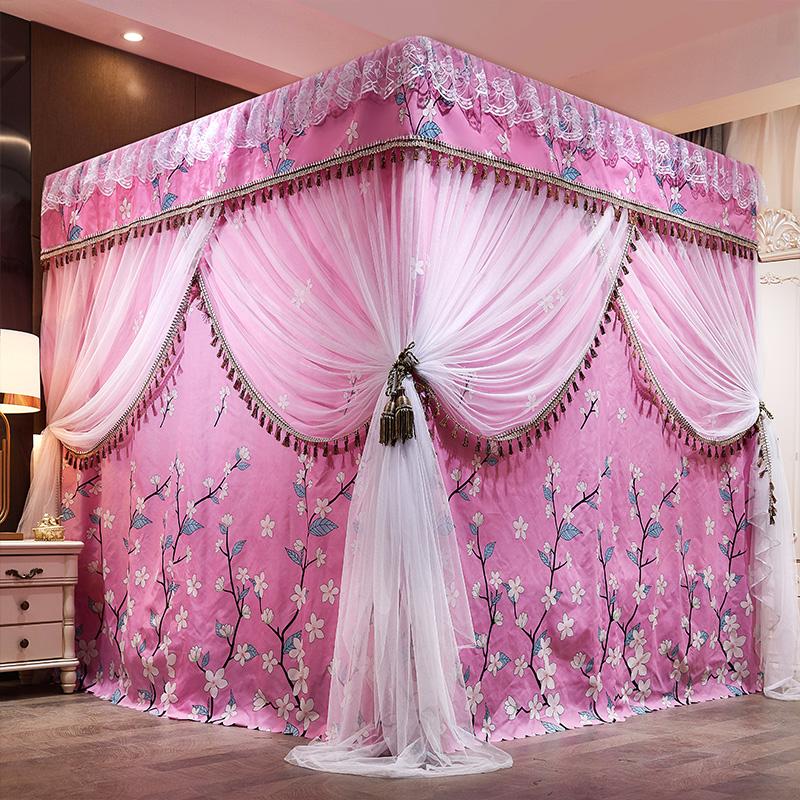 加厚遮光床帘床幔保暖家用卧室公主1.5米1.8米蚊帐双层床围挡布满128元减20元