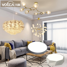 Nordic style full house lighting package combination simple modern living room bedroom dining room three room two halls chandelier set