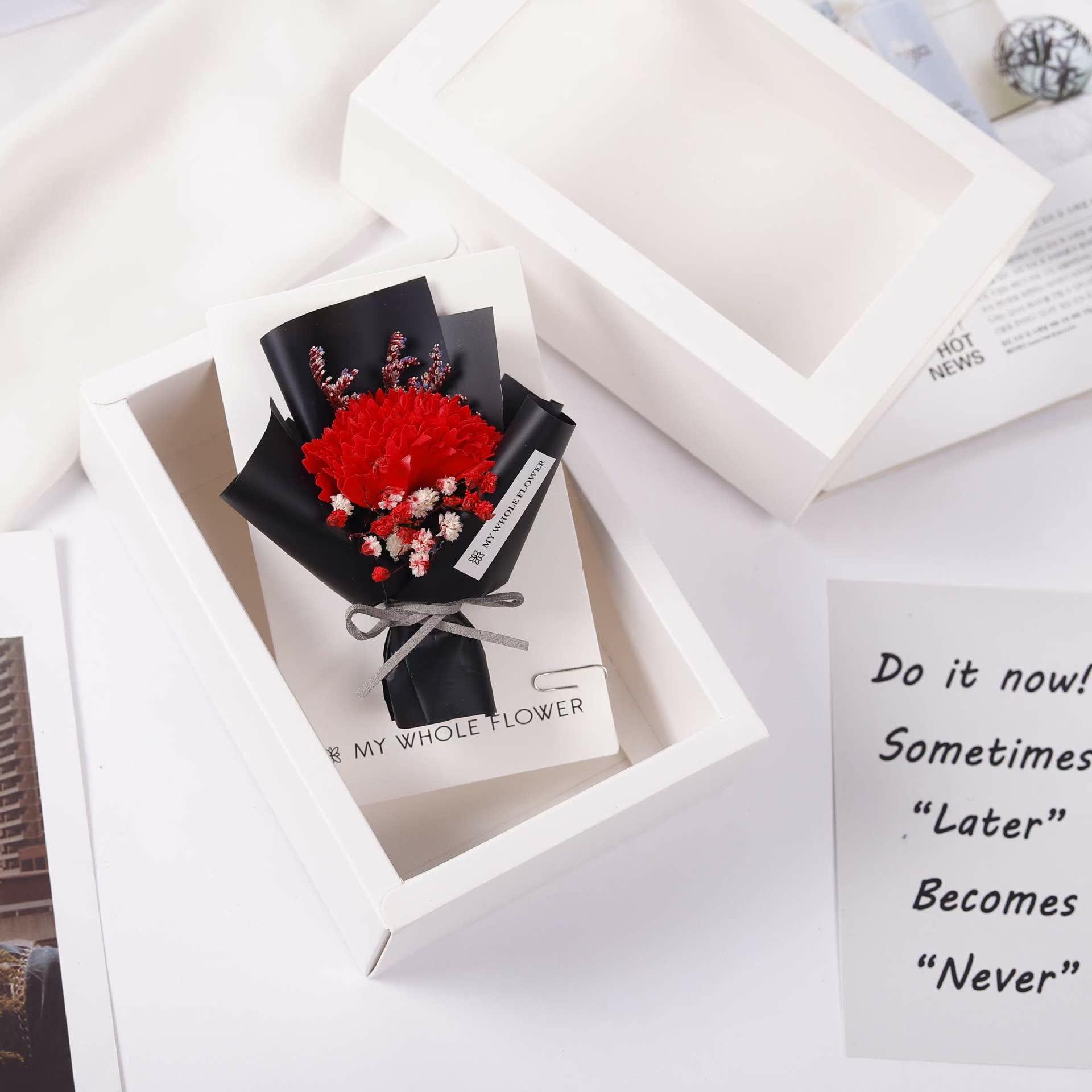 迷你干花贺卡礼盒伴手礼定制老师教师节礼物永生花干花卡片小花束