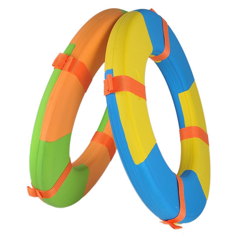 加厚加大船用专业成人儿童实心泡沫游泳救生圈高浮力免充气送绳子