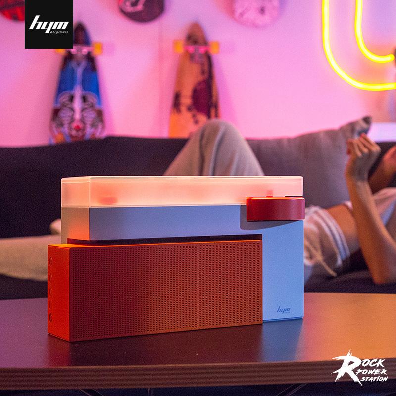 嘿哟音乐 HYM-DUO 黑胶唱片机 蓝牙音箱语音控制便携创意智能电唱