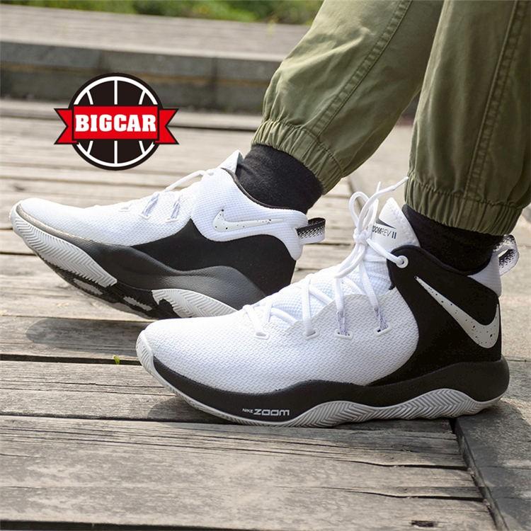 BIGCAR球鞋 NIKE Zoom Rev II TB Promo 白黑篮球鞋 AO5386-100