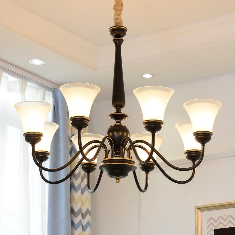 全铜吊灯美式铜灯复古北欧简约奢华客厅卧室餐厅大气纯铜灯具-北欧灯饰馆