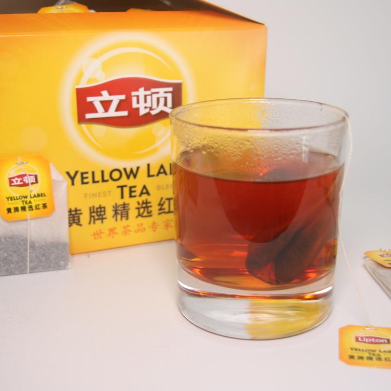 正品 联合利华立顿Lipton黄牌精选红茶袋泡茶叶200小包赠趣味纸巾
