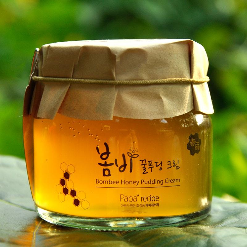 韩国正品papa recipe春雨布丁果冻面霜135ML蜂蜜补水睡眠面膜包邮