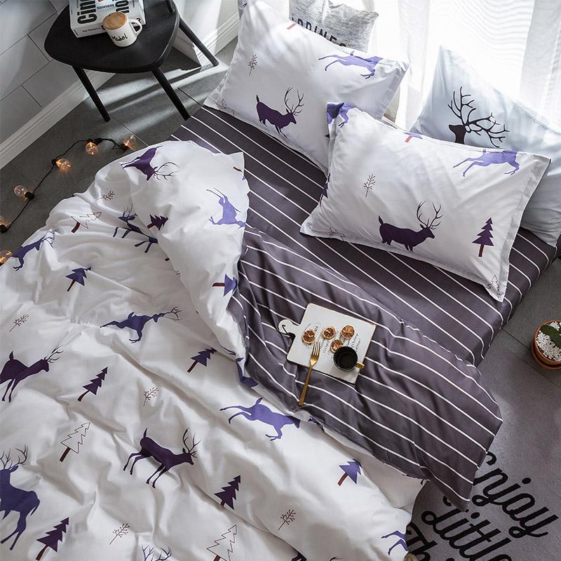 床上用品四件套1.8m床单被套4学生宿舍单人1.2/1.5米三件套3被罩