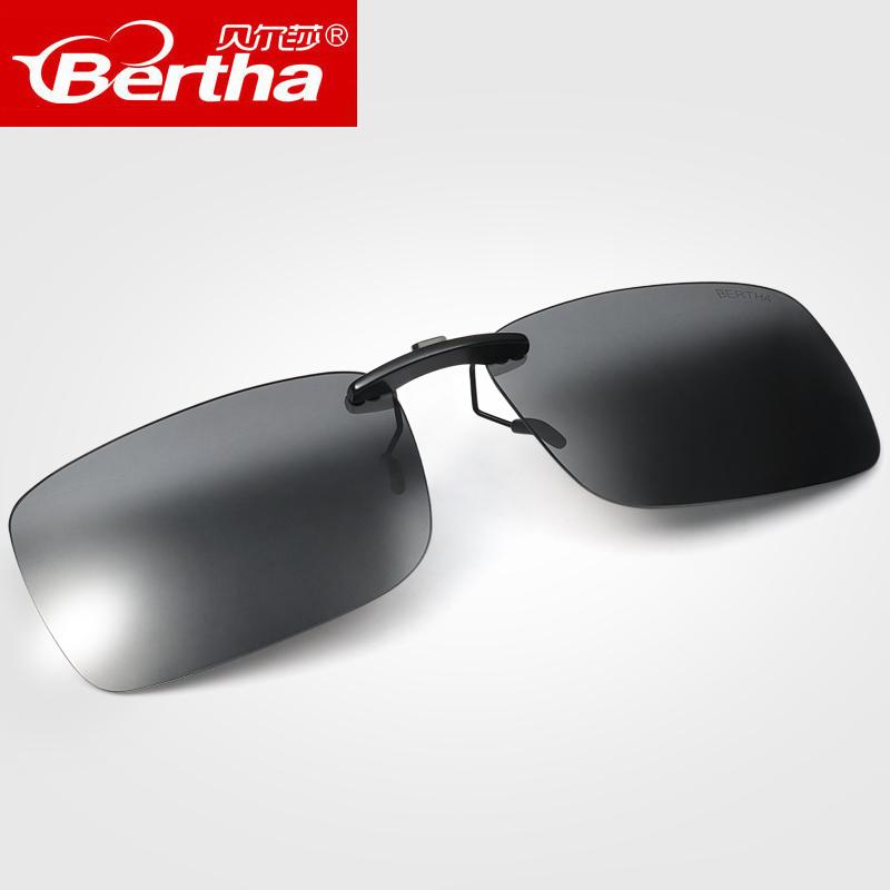 偏光墨镜夹片近视钓鱼驾驶眼镜夹片式太阳镜男女开车专用防紫外线