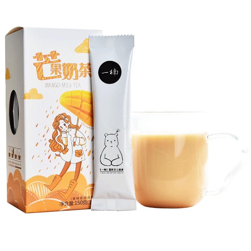 一楠芒果奶茶 袋装速溶奶茶 水果味奶茶粉早餐冲饮