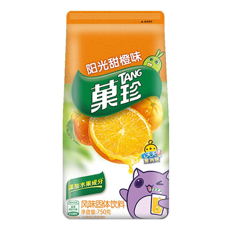 亿滋 菓珍果味饮料速溶果汁冲饮阳光甜橙味750g