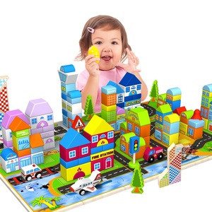 Ming Tower children's building blocks toys 3-6 years old puzzle boy baby wooden girl baby assembled 7-8-10 years old