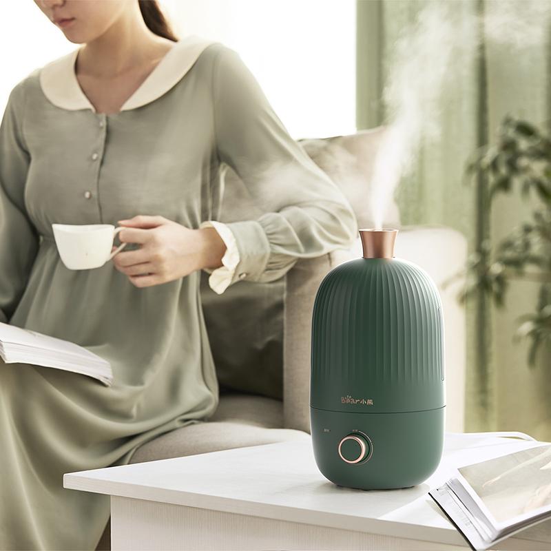 小熊加湿器家用静音大雾量办公室桌面空气净化小型卧室香薰机喷雾