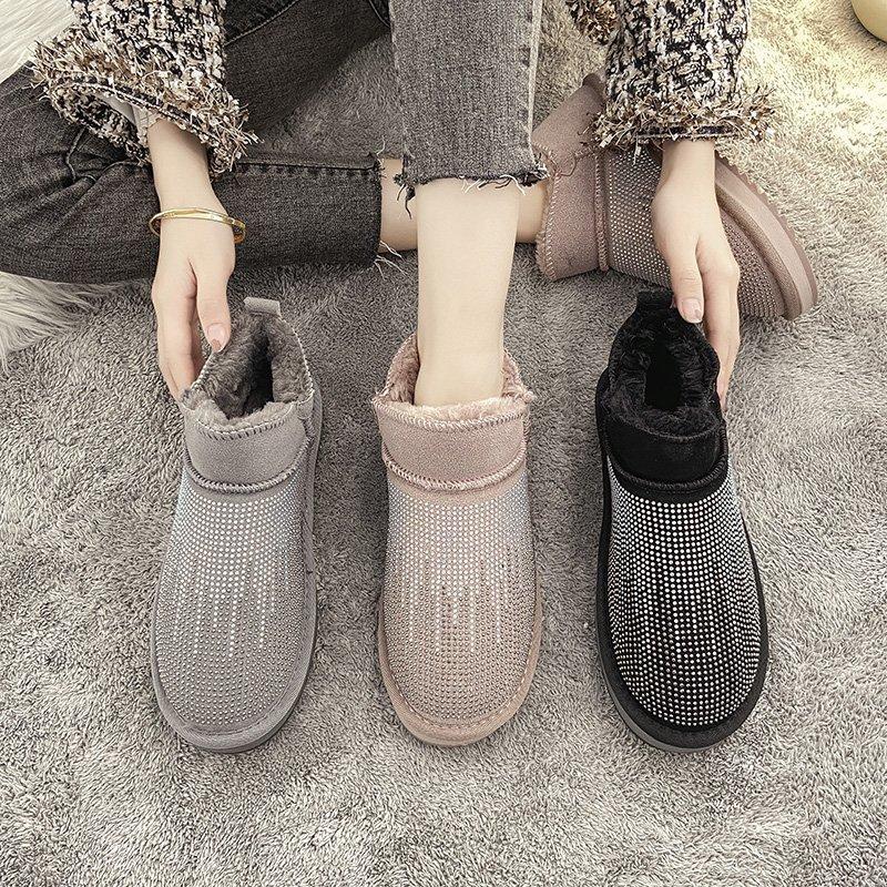 一脚蹬2020年新款水钻冬季雪地靴