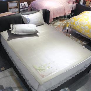 多喜爱艾草冰丝驱蚊香1.5m双人床凉席仿藤席1.8m加大凉席藤席暖阳