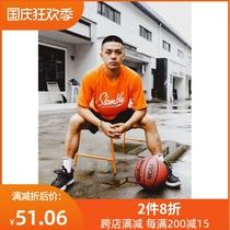SLAMBLE运动T恤男篮球短袖国潮T速干透气排汗训练美式半袖投篮服