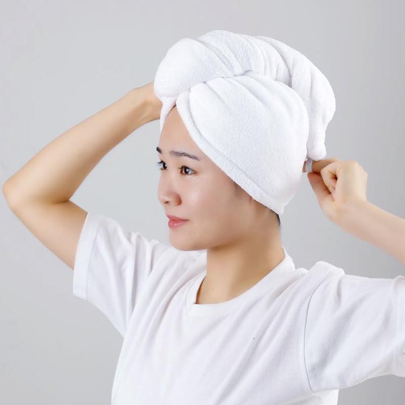 日式弹力干发帽超强吸水速干家用加厚擦头毛巾浴帽女士包头干发巾