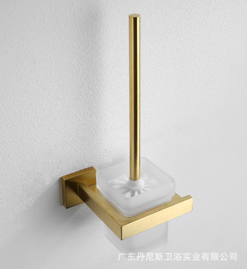 卫浴清洁马桶刷套装304不锈钢卫浴挂件挂墙刷子拉丝金马桶刷